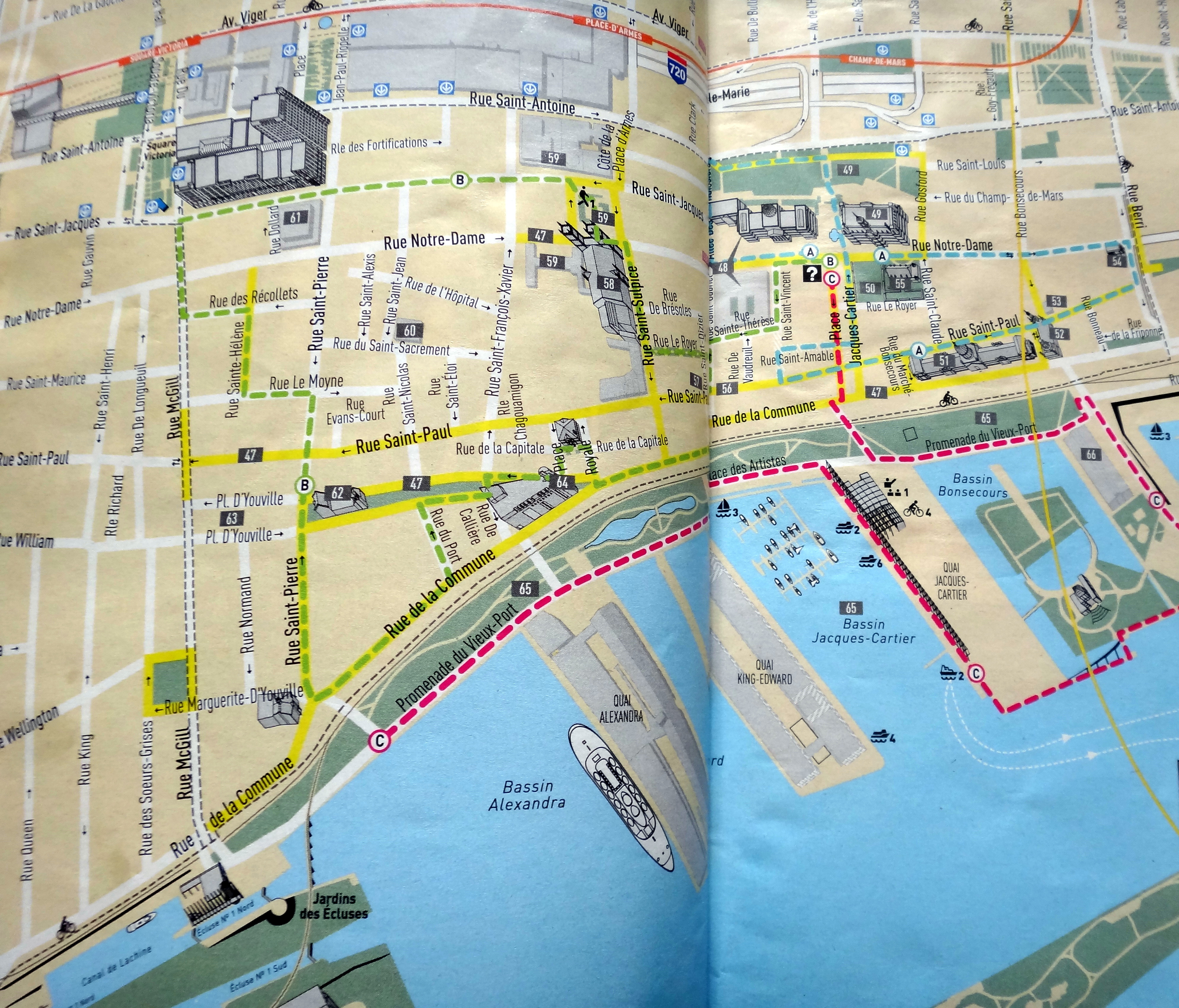 Walking in Old Montreal – Montreal Tourist Map
