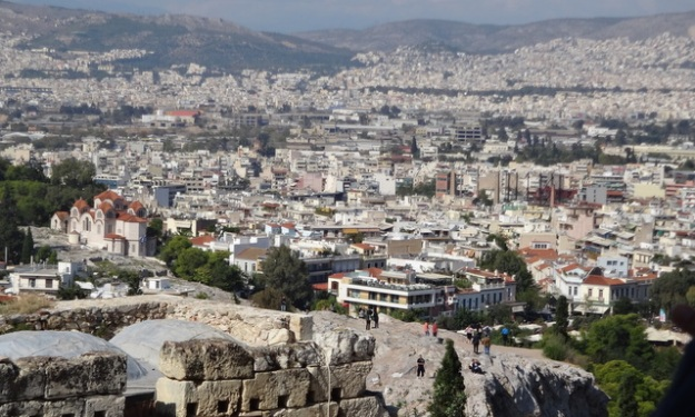 Mars Hill and the City of Athens from the Acropolis